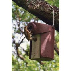 Nichoir de jardin pour petits oiseaux SCHEWGLER marron