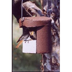 Nichoir de jardin semi-ouvert pour oiseaux SCHWEGLER marron