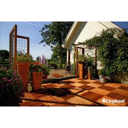 Dalle de terrasse en bois exotique Bangkiraï 50 x 50 x 3 cm