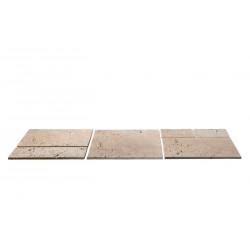 Dalles en pierre naturelle travertin ép. 2 cm, module de 0,74 m2