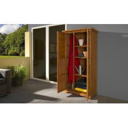 Armoire de balcon avec double porte en sapin - 80 x 43 x 180 cm