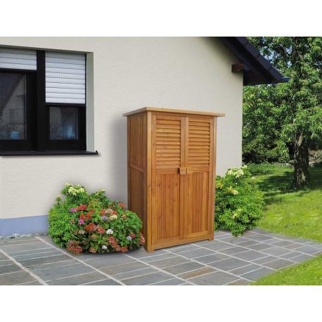 Abri de balcon avec double porte en sapin - 80 x 43 x 160 cm