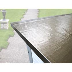 Rouleau de membrane de toit auto-adhésive pour abri de jardin à toit plat anthracite de 5 m²