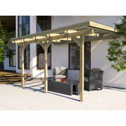 Pergola de 9,68 m² en pin traité autoclave - 306 x 424 x 271 cm