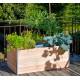 Carré potager avec composteur pour terrasse – 115 x 61 x 48 cm