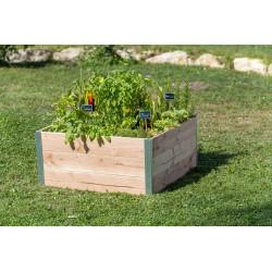 Petit carré potager en bois douglas non traité - 80 x 75 x 36 cm