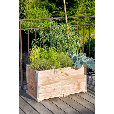 Jardinière potagère en bois pour terrasse ou balcon – 75 x 35 x 36 cm