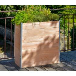 Jardinière haute pour potager en bois Douglas – 75 x 35 x 80 cm