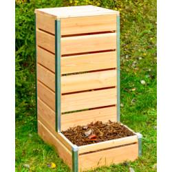Composteur à accès direct en bois – 80 x 45 x 98 cm