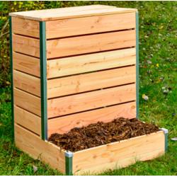 Composteur en bois non traité avec accès direct – 80 x 75 x 98 cm