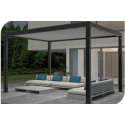 Pergola bioclimatique autoportante Premium en aluminium avec lames orientables motorisées – 4 x 3 m – 12 m² au sol