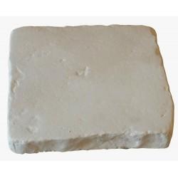Pavé de terrasse en pierre reconstituée à coller 16 x 16 x 2,5 cm blanc
