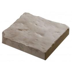 Pavé de terrasse en pierre reconstituée à coller 16 x 16 x 2,5 cm blanc nuancé