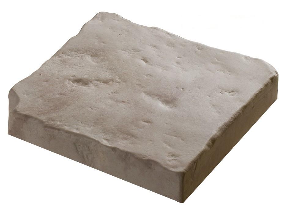 pav pour jardin en pierre reconstitu e coller 2 5 cm blanc nuanc. Black Bedroom Furniture Sets. Home Design Ideas