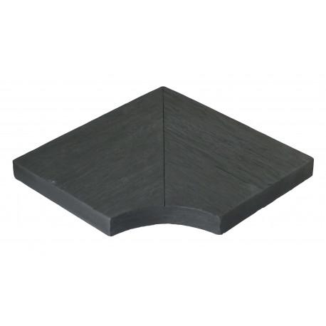 Margelle en pierre reconstituée angle rentrant 25 x 25 x 4 cm schiste