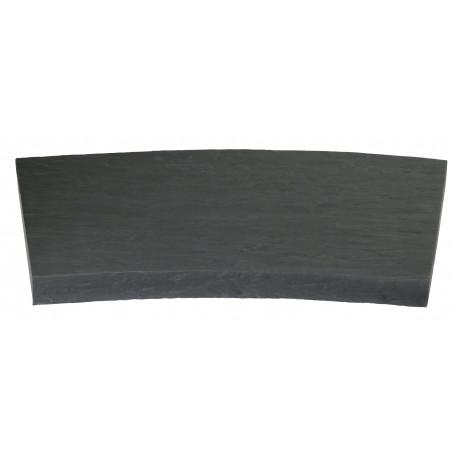 Margelle en pierre reconstituée courbe 54 x 46,5 x 4 cm schiste