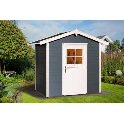 Abri de jardin anthracite avec une porte vitrée – 125 x 204 x 227 cm – 3 m²