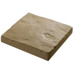 Pavé de terrasse en pierre reconstituée à coller 16 x 16 x 2,5 cm camel