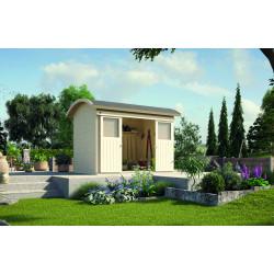 Abri de jardin en épicéa - portes coulissantes - 209 x 295 x 248 cm - 6,16 m² - Toiture membrane
