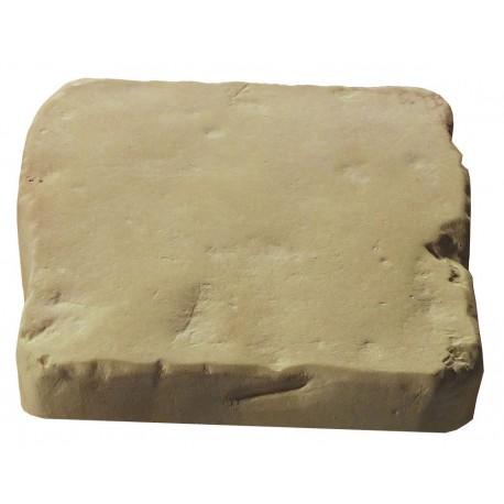 Pavé de terrasse en pierre reconstituée à coller 16 x 16 x 2,5 cm camel nuancé