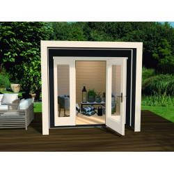 Abri de jardin avec fenêtres panoramiques - 235 x 239 x 227 cm – 5,61 m² - Toiture membrane