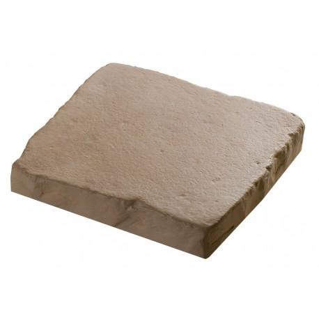 Pav coller en pierre reconstitu e 2 5 cm ocre for Pierre a coller exterieur