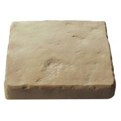 Pavé de terrasse en pierre reconstituée à coller 16 x 16 x 2,5 cm ocre nuancé