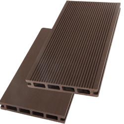 Lame de terrasse alvéolaire réversible composite - 260 x 14,6 x 2,4 cm – Chocolat