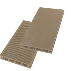 Lame de terrasse alvéolaire réversible composite - 260 x 14,6 x 2,4 cm – Beige