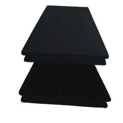Lame pleine pour terrasse en composite réversible de couleur gris anthracite – 260 x 14 x 2 cm