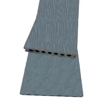 Lame alvéolaire coextrudée antidérapante en composite réversible - 260 x 15 x 2.3 cm - Couleur gris anthracite