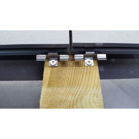 Boite de 100 clips et 100 vis inox pour lame pleine de terrasse en composite -5 m²