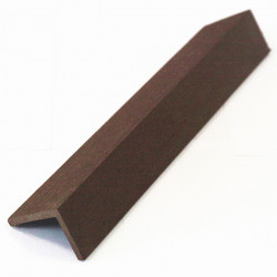 Cornière de finition en composite - 220 x 5 x 4 cm Chocolat