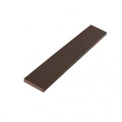 Plat de finition en composite - 220 x 5 x 1 cm Chocolat