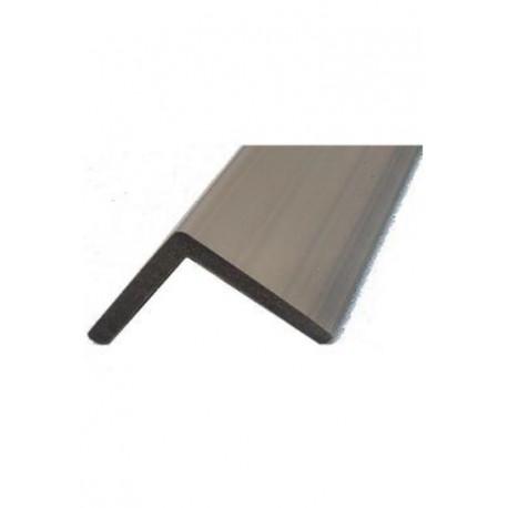 Cornière de finition en composite pour lame alvéolaire coextrudée – 220 x 5,7 x 5,7 cm – Couleur Grège