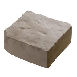 Pavé de terrasse en pierre reconstituée à poser 16 x 16 x 6 cm blanc nuancé
