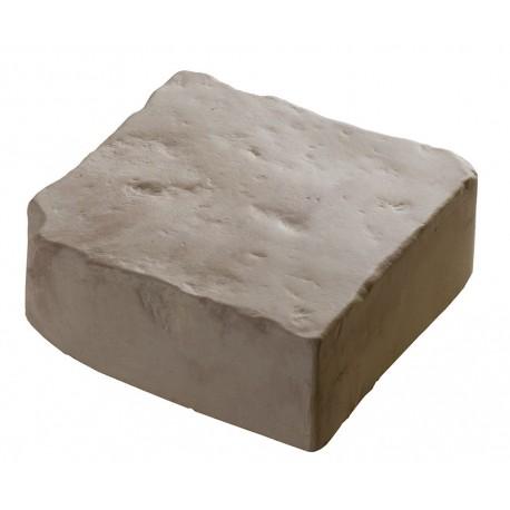 Pave pierre à poser 6 cm blanc nuance
