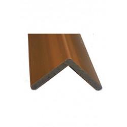 Cornière de finition en composite pour lame alvéolaire coextrudée – 220 x 5,7 x 5,7 cm – Couleur Ipé