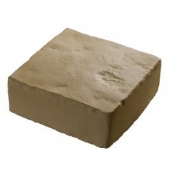 Pavé de terrasse en pierre reconstituée à poser 16 x 16 x 6 cm camel