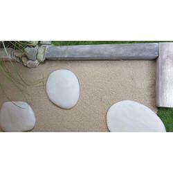 Pas japonais de jardin en pierre reconstituée galet blanc