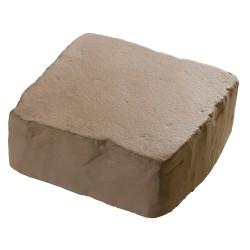 Pavé de terrasse en pierre reconstituée à poser 16 x 16 x 6 cm ocre