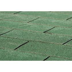 Rouleau de bardeau bitumé Shingle motif rectangulaire – Couleur vert – 3 m²