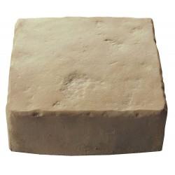 Pavé de terrasse en pierre reconstituée à poser 16 x 16 x 6 cm ocre nuancé