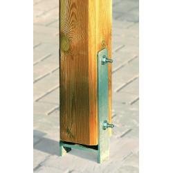 Kit d'ancrage en H en métal pour pergola – 90 x 90 mm
