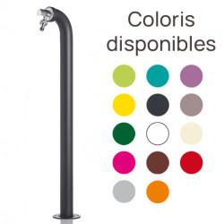 Fontaine de jardin Périscope en fer avec robinet de raccordement – 11 x 18 x 80 cm – 14 coloris disponibles