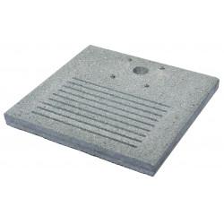 Socle carré en ciment avec fentes pour le drainage – 40 x 40 x 4 cm