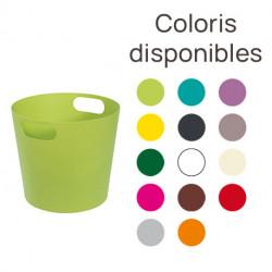 Seau en aluminium avec poignées – 25 cm de largeur – 22 cm de hauteur – 14 coloris disponibles