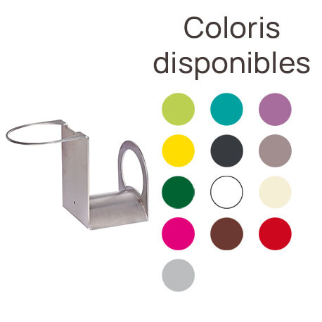 Support en fer pour tuyau d'arrosage – 13 x 25 x 18 cm – 13 coloris disponibles