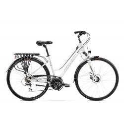 Vélo trekking Gazela 4 - 28 pouces en aluminium 6061 - Blanc Noir – Taille M ou L