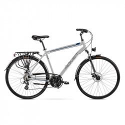 Vélo trekking Wagant 2 - 28 pouces en aluminium 6061 – Argent Noir – Taille M, L ou XL